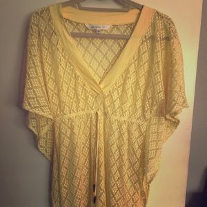 7c24ea990ae00 ... striped hooded long sleeves coverup. M_59cd7403c28456429100cca6. Other  Swims you may like. Ella Moss yellow crochet swim coverup. Size Small.